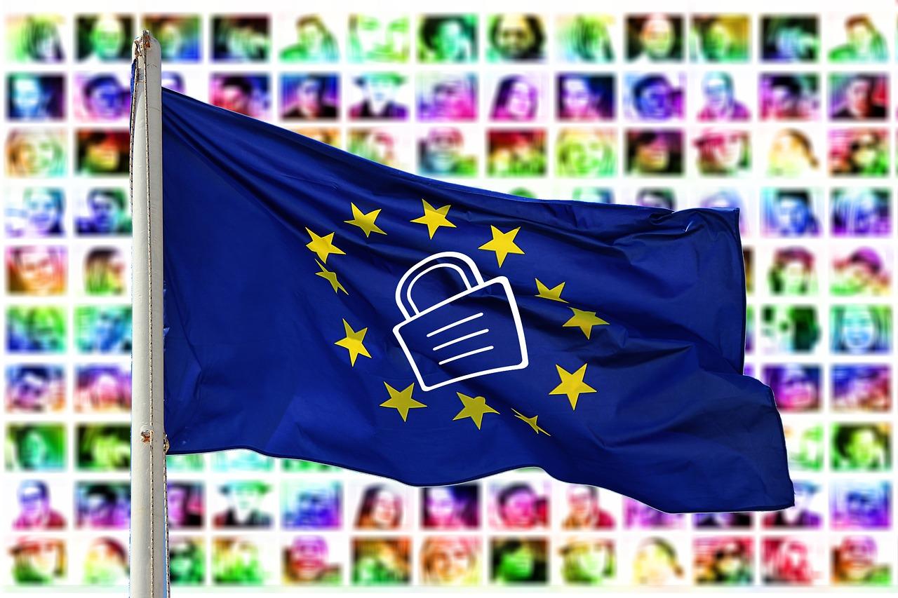 プライバーポリシーを誓う旗
